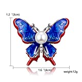 KXHZJM Alloy Purple Enamel Butterfly Bird Brooches Men and Women's Metal Rhinestone Insects Banquet Wedding Brooch Gifts