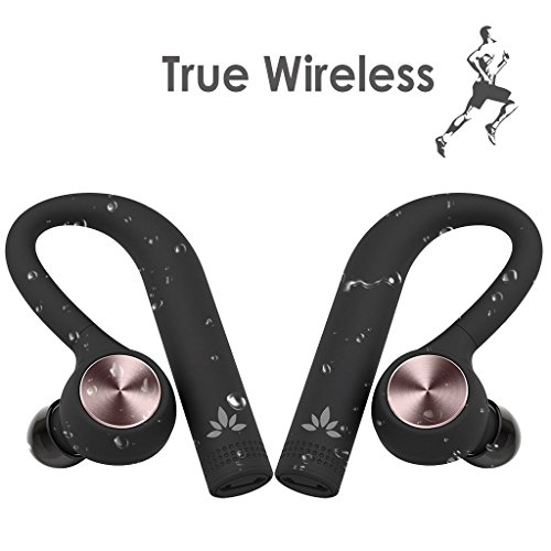 Avantree IPX5 Schweißfeste Wireless Kopfhörer, True Wireless TWS Stereo Bluetooth 4.2 Ohrhörer, Dual Kabellose In Ear Headset Kopfhoerer mit Mikrofon, Sicher Sitz beim Sport - TWS109 (Wireless Dual-kopfhörer)