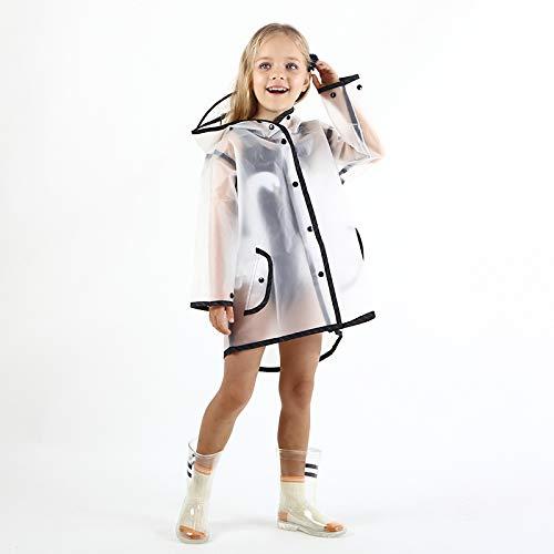 Imperméable pour Enfants imperméable imperméable Manteau de Pluie EVA Filles Windproof Poncho...