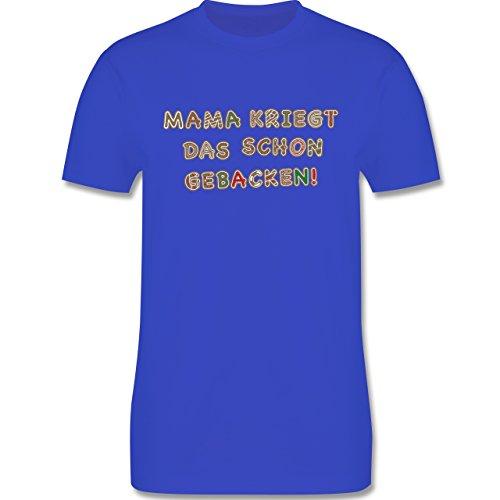 Weihnachten & Silvester - Mama kriegt das schon gebacken! - Herren Premium T-Shirt Royalblau