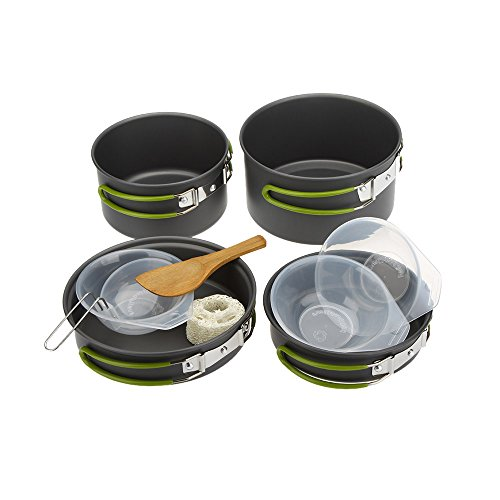 Camping Cookware, Docooler 2-3 People Multifunctional Portable Cooking Set for Outdoor Camping Hiking Picnic