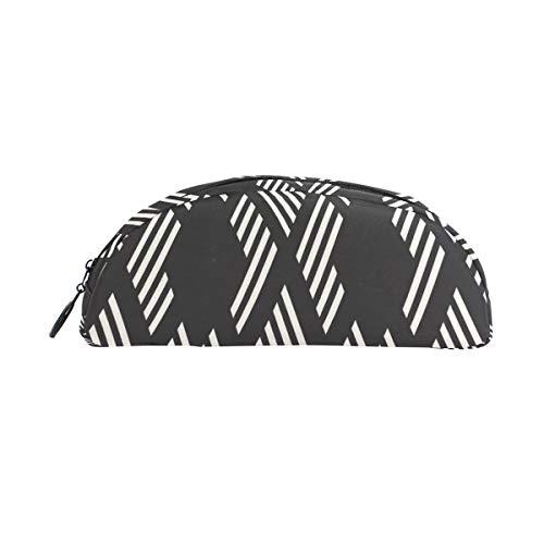 Schwarz Weiß Plaid Textur Stift Tasche Organizer Federmäppchen Tasche Reißverschluss Kleine Make up Tasche Schreibwaren Für Studenten Klasse Kinder Junge Teen Mädchen Schule College Campus Geschenk -
