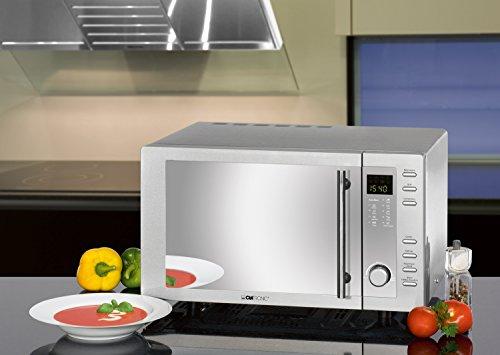 Clatronic MWG 775 H/ Mikrowelle mit Grill und Heißluft / 23 Liter / Edelstahlgehäuse -