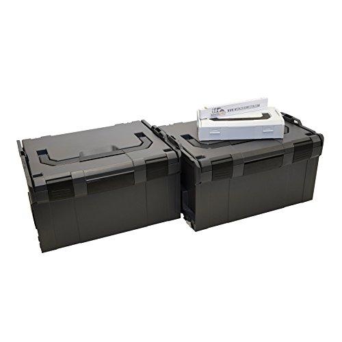 Preisvergleich Produktbild Bosch Sortimo 2 x L-Boxx 238 anthrazit Gr3 leer - L-Boxx Mini gratis dazu