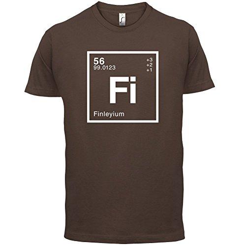Finley Periodensystem - Herren T-Shirt - 13 Farben Schokobraun