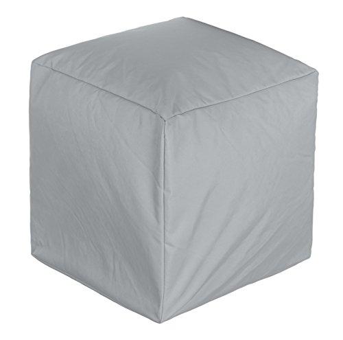 BRANDSSELLER Outdoor Cube Sitzwürfel Sitzsack Sitzhocker Sessel - für den Wohn- und Gartenbereich - 45x45x45 cm - Hellgrau