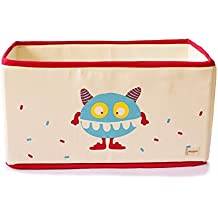 Shumee Canvas Toy Storage Bin - Multicolor, Fold-able, Lined with hardboard & Stack-able (Squasher)