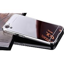 Vandot 2en1 ( Luxe Mirror Frame Bumper + PC Plastique Arrière Etui ) Coque pour HTC Desire 728 Case Premium Mirror Phone Case Cover Shell Hull Protection D'écran Pare-Chocs Complète Absorption Cas Back Cover Retour Coquille Arrière Smartphone Accessories Case - Noir