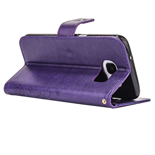 Mo-Beauty, Borsa bowling donna Gray Samsung Galaxy S6 Purple #2
