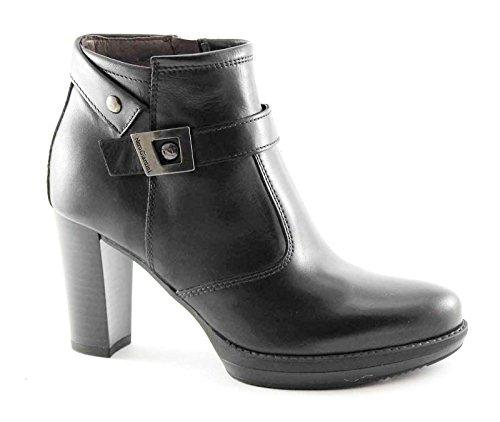 BLACK JARDINS 616,403 bottes noires glissière latérale bottes femmes Nero
