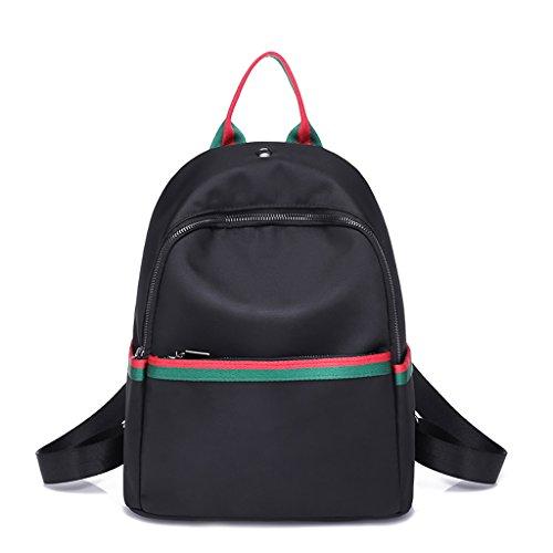 CLOTHES- Borsa a tracolla femminile Zaino nylon estivo Versione coreana del sacco selvatico Borsa Oxford Cloth Bag Casual Youth ( Colore : Red and green ) Red and green