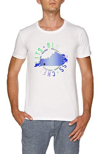 Bluegrass State w Herren Weiß T-Shirt Größe M   Men's White T-Shirt Size M