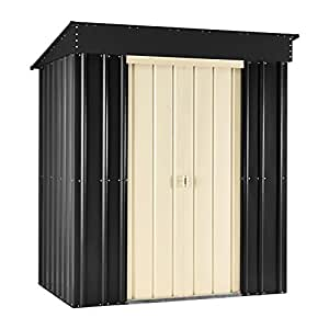 globel globel53 sg 5 ft x 3 ft metall pultdach ger tehaus gartenhaus schiefer grau 140 x 82 x. Black Bedroom Furniture Sets. Home Design Ideas