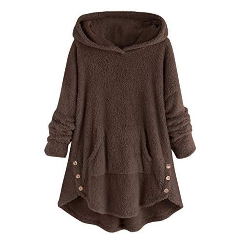 CLOOM Talla Grande,Mujer Suéter Capucha