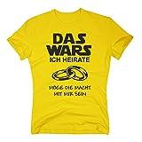 Das Wars Shirt Herren - Ich heirate - Junggesellenabschied Bräutigam JGA - von SHIRT DEPARTMENT, gelb-schwarz, M