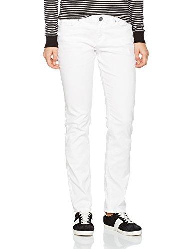 Q/S designed by - s.Oliver Damen 45899710414 Slim Jeans, Weiß (White 0100), W38/L30 -