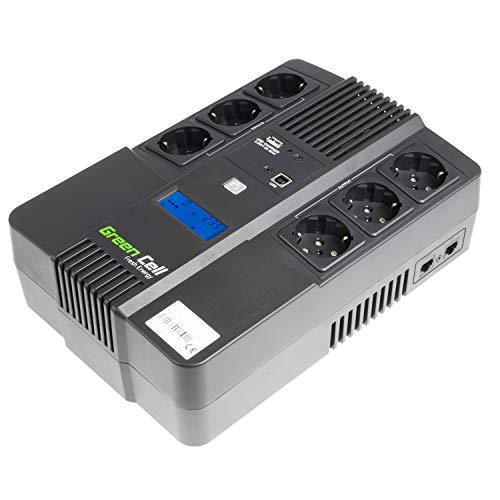 Green Cell UPS USV Unterbrechungsfreie Stromversorgung 800VA (480W) 230V 600VA-800VA Approximated Sine Wave USB Type B 6X Schuko
