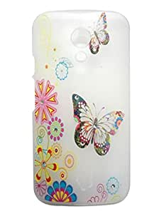 Printed Hard Back Cover Case For Motorola Moto G2 (MultiColor)