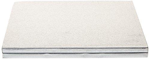 Decora 0931249 Dessous de Gâteau Carré Carton Argent 30 x 30 cm Coffret de 2