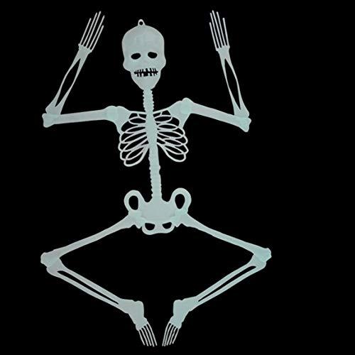 fghfhfgjdfj Horror-beweglicher leuchtender Schädel-Halloween-Skelett-Requisiten-Glühen-Halloween-Eve Decor Scary Bar Make-up-Party-Dekoration