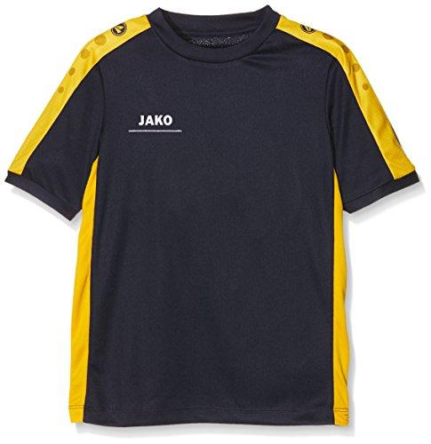 Volleyball Gelbes T-shirt (JAKO Kinder T-Shirt Striker, Marine/gelb, 152)