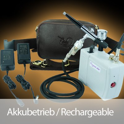 Airbrush Bodypainting Set mit Akkubetrieb - Nagelstudio/Nageldesign AS7 von OCS.tec & Co.KG bei TapetenShop
