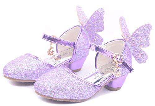 6a3ab8fcf0 YOGLY Niñas Zapatos de Tacón Princesa Fiesta Sandalias para Niñas