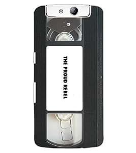 ColourCraft Retro Video Cassette Design Back Case Cover for OPPO N1