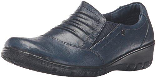 Easy Street Damen Proctor, Navy/Gore, 37.5 EU Tan Patent Leather Pumps