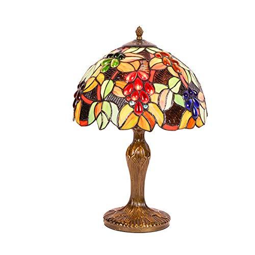 E27 Tiffany Stil Flowers Tischlampe, Retro Glasmalerei Tabelle Licht Für Wohnzimmer-h:47cm(18.5in)* D:30cm(11.8 In) -