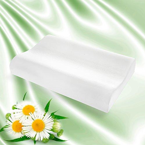 Goldflex - Almohada ergonómica con doble onda 100% viscoelástica, antiácaros y antialérgica, revestida con tejido elástico de protección