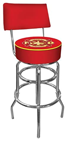 Fire Fighter Padded Swivel Bar Stool with
