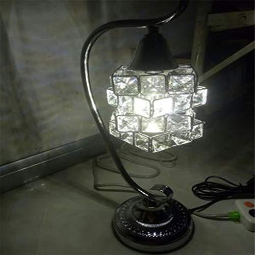Tischlampe,Dimmbar Led Tischlampe,Design Kristall Tischleuchte Moderne Chrome Luminare Dia 13.5 * H 45 Cm Glanz Nachttischlampe, - Chrome Moderne Beistelltisch