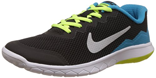Nike Flex Experience 4 (Gs) Scarpe Sportive, Ragazza Nero (Schwarz (Black / Metallic Silver / Blue Lagoon / White 002))
