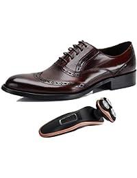 0763f6c6a7cc2 Bullock Zapatos De Negocios para Hombre Tallados En Punta Derby Marrón  Negro Zapatos De Boda Inglaterra