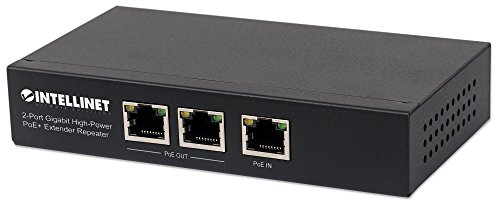 Über-cat5-extender-modell (intellinet 561266 2-Port Gigabit High-Power PoE+ Extender, 2 PSE-Ports Metall Schwarz)