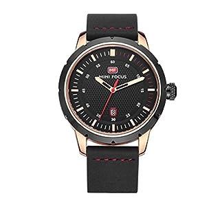 SSQ-CXO Men's Casual Wrist Watch, Multifunction Calendar Mineral Tempered Glass Mirror, Antique Dial Premium Leather Strap Quartz Waterproof Wrist Watches
