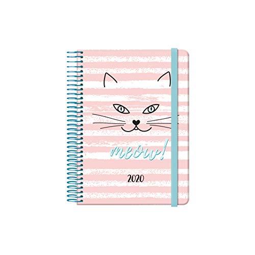 Dohe 12601 - Agenda Cute'Gato' - Día Página - 12,5 x 18 cm