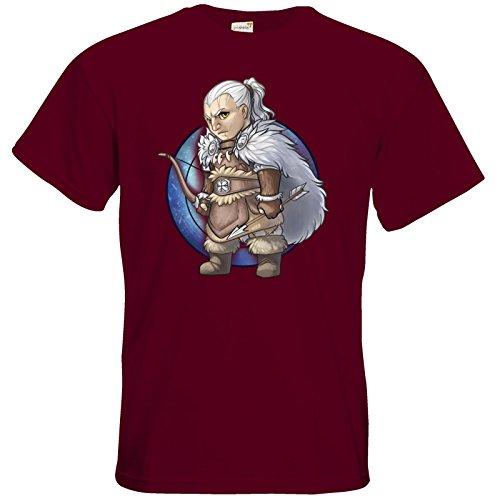getshirts - Das Schwarze Auge - T-Shirt - Götter - Firun - Chibi Burgundy