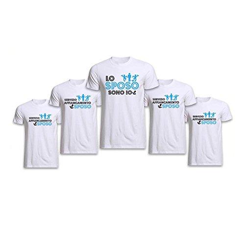Altra marca pacchetto 8+1 t-shirt bianche magliette da uomo personalizzate per addii al celibato servizio affiancamento sposo