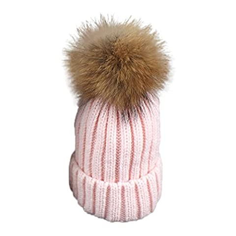 Omiky® - Ensemble bonnet, écharpe et gants - Femme - rose - taille libre