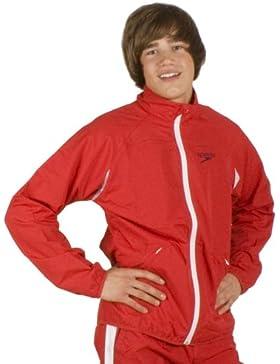 Speedo Naatan - Chaqueta de deporte para hombre rojo china red Talla:small