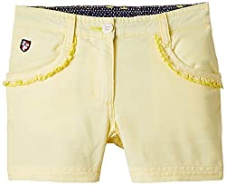 US Polo Association Girls Shorts (UGST5026_Lt. Yellow_8 - 9 years)