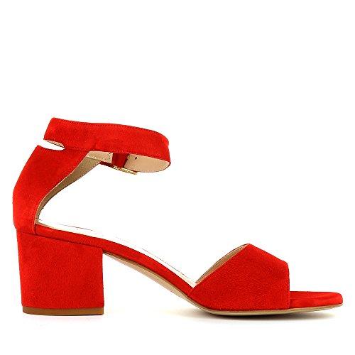 MARIELLA Damen Sandalette Rauleder Rot