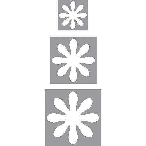 Rayher Hobby 69103000 Motivstanzer Set Blumen, ø 1,6 cm + ø 2,54 cm + ø 3,81 cm, geeignet für Papier/Karton bis zu 200g/m²