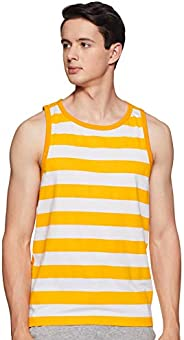 WOKNIT Men's Striped Slim Fit Cotton Vest (G