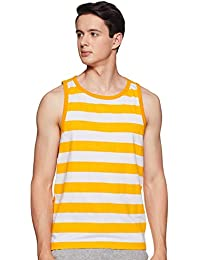 WOKNIT Striped Cotton Regular Fit Vest Sando