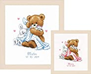 Counted cross stitch kit Bear with a blanket