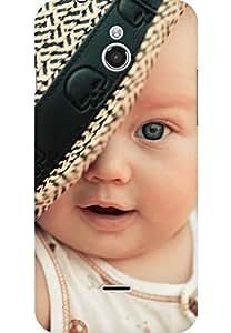 AMEZ designer printed 3d premium high quality back case cover for Infocus M2 (Baby Child Hat)