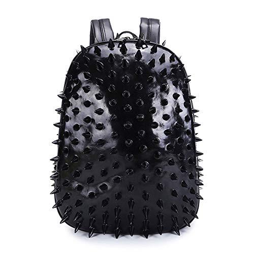 Lederrückpack, Große Kapazität Schoolbag, Modische Laptop-Tasche, Es Kann Gebrauchtes Partygeschenk, Geeignet Für Jeden (Schwarz)